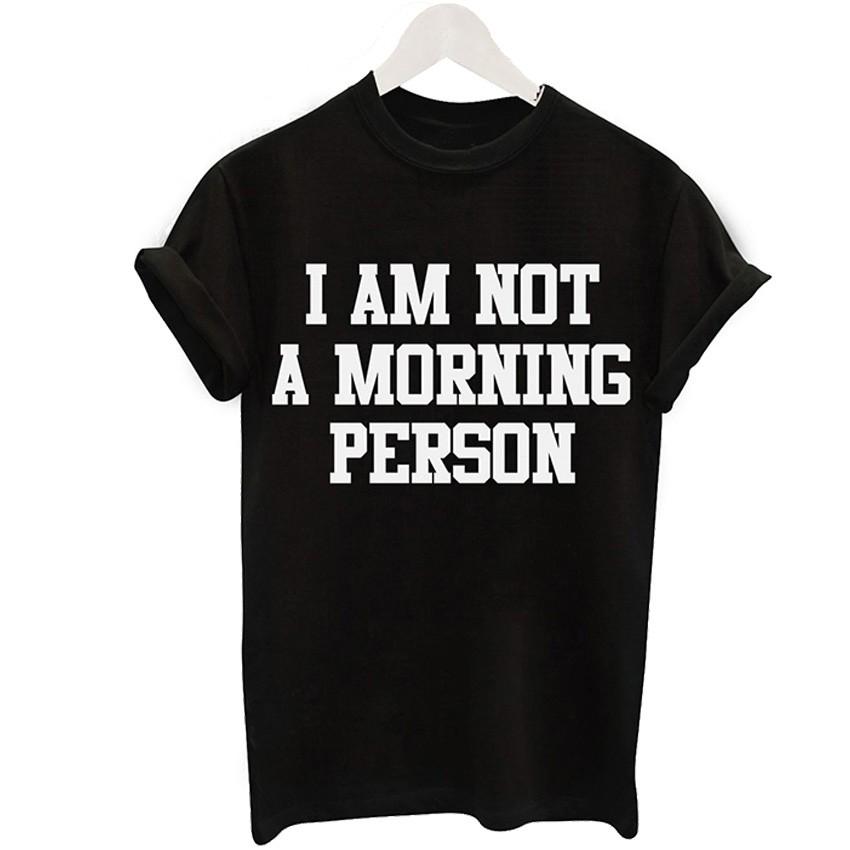 2016 Harajuku Czarny T-shirt Kobiety Panie Topy Jednorożec List Wydrukuj Casual Śmieszne Koszulki z krótkim rękawem Tee Shirt Femme Luźne 7