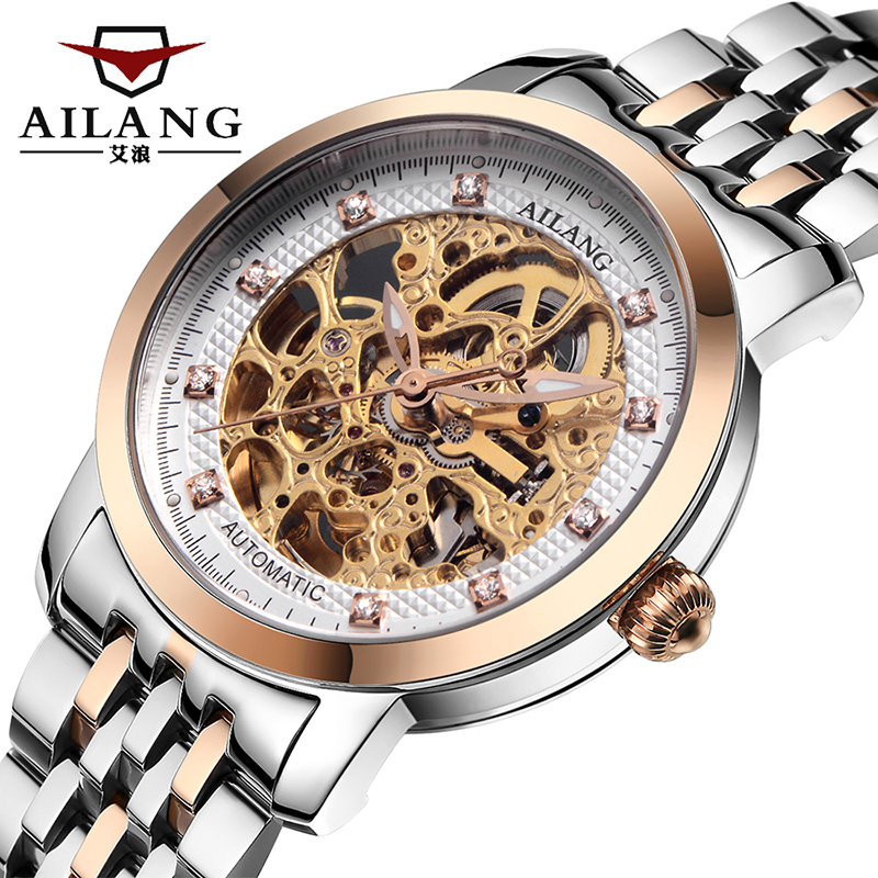 Luxury brand watches brand men 's automatic mechanical watch luxury style steel hollow gold core waterproof design wholesale motorcycle pro biker glove cycling bicycle racing gloves motorcycle full finger non slip gloves