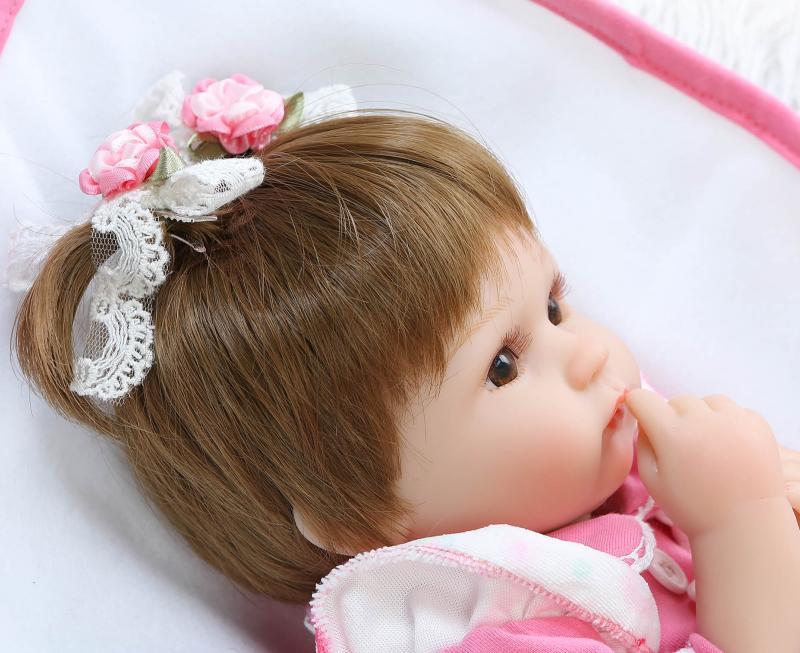 NPKDOLL Baby Reborn Doll 16 Inch Lifelike Soft Silicone Reborn Toys Fashion Gift For Girls Newborn Babies Toys