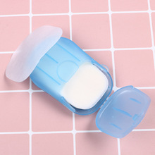 5 Boxes/lot(20 pieces/box) Convenient Washing Hand Bath Soap flakes Travel portable Scented Slice Sheets Foaming Box Paper Tools
