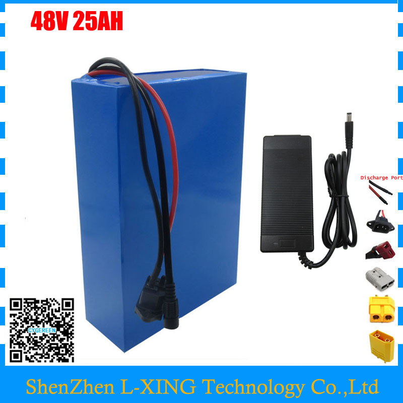 EU US no tax 2000W 48V 25AH electric bike Lithium battery 48V 25AH Scooter battery with 50A BMS 2A Charger free shipping electric bike battery 48v 20ah 1000w rear rack battery 48v 20ah lithium ion battery with tail light 30a bms 54 6v 2a charger