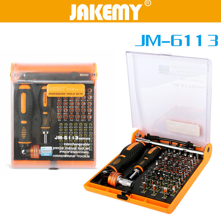 JAKEMY 73 in 1 Precision Torx Magnetic Screwdriver Set Bits For Electronics Hand Tools Kit For Mobile Phone Repair Laptop iPhone
