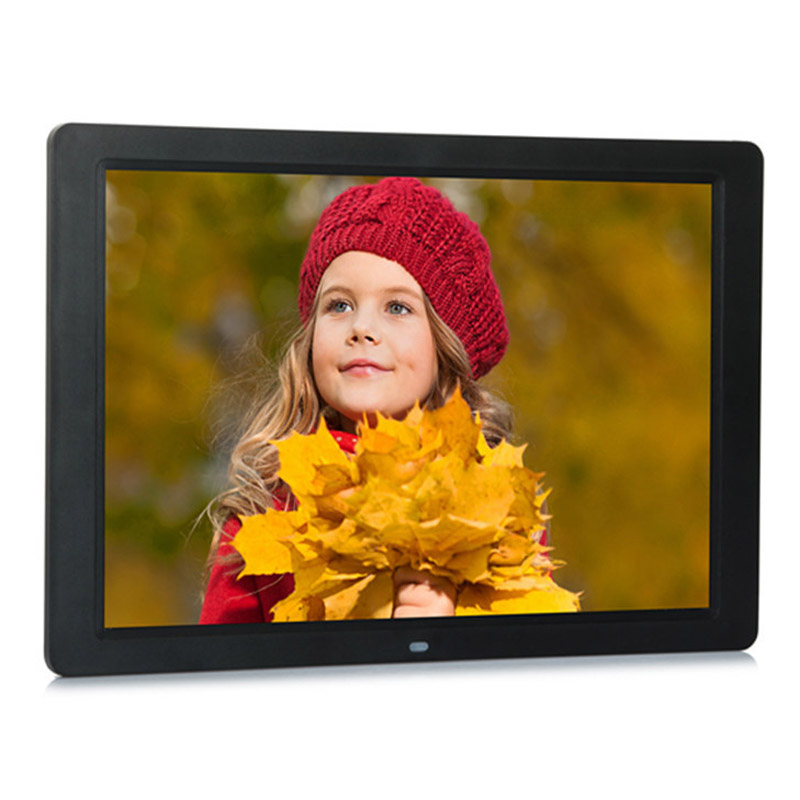 new 15 Inch Multifunctional HD Digital Photo Frame/Electronic Picture Album with Mirror Panel Music/Video/Ebook/Time/Alarm 2015 new 7 inch digital photo frame ultra thin hd photo album lcd advertising machine