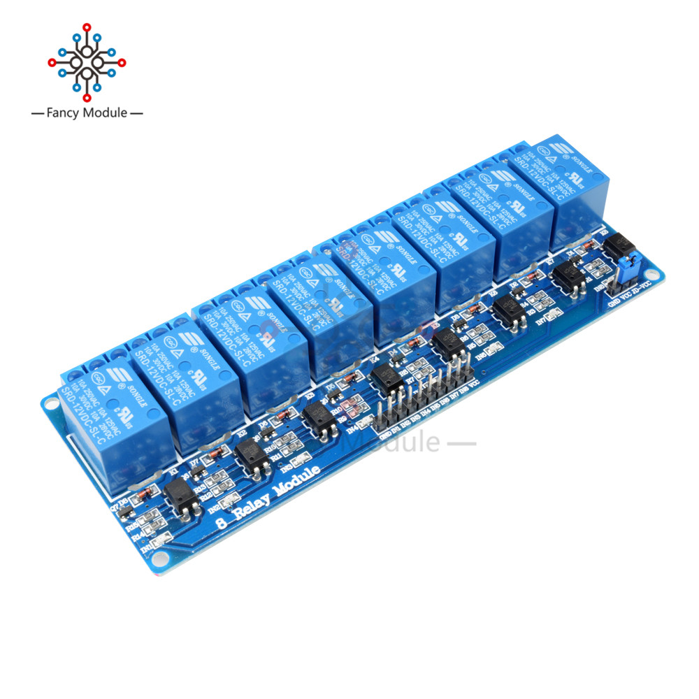 DC 12V 8 Channel Relay Module Optocoupler for Arduino UNO 2560 1280 ARM PIC AVR High Quality m12 aviation plug 8pins stragiht female or male plugs sensor connector socket connectors