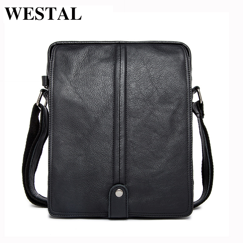 цена на WESTAL Genuine Leather Men Bags Man Small Messenger Bag Male Fashion Crossbody Shoulder Handbag Men's Travel New Bags 8830