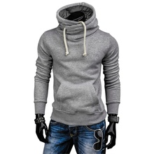 все цены на ZOGAA Plus Size Men Hoodies Tracksuit  Autumn Winter Drawstring Pocket Hooded Sweatshirt Long Sleeve Zip Slim  Male Hoodies онлайн
