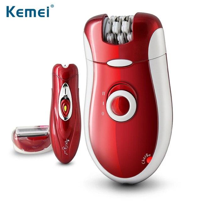 Kemei3068 3 in 1 Epilator Female Shaver Wool Device Electric Epilator Shaving Depilator Pedicure Leg Armpit Body Epilator thule 3068