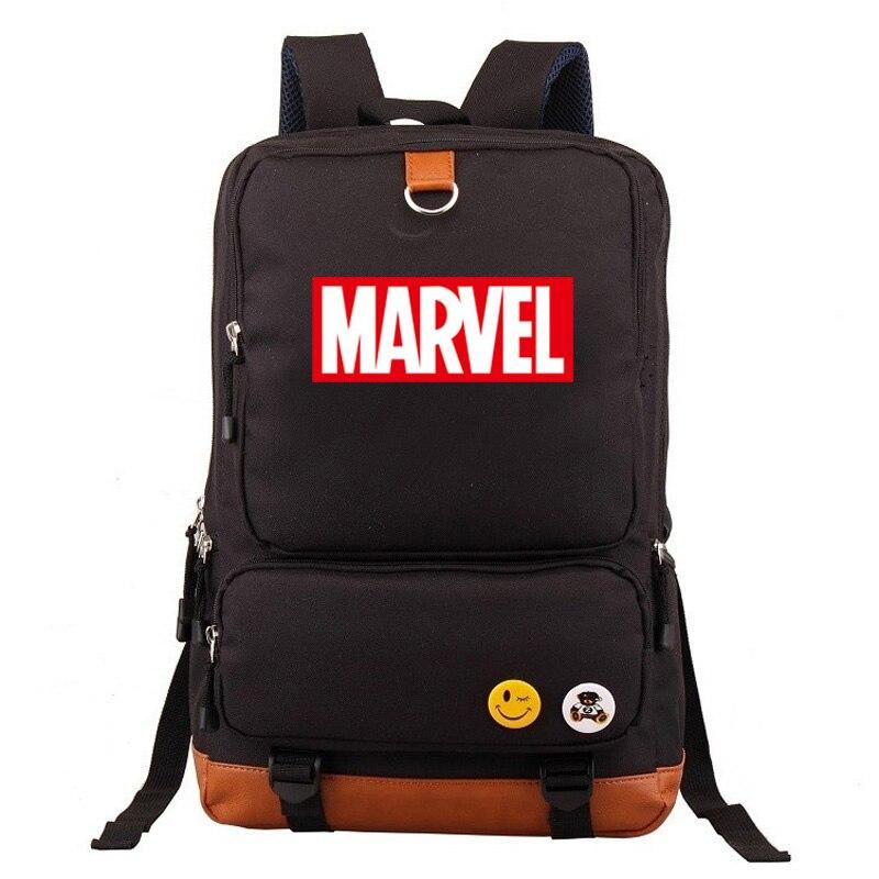 Multicolor Marvel carta el vengador chico chica bolsa de la Escuela de las mujeres mochila adolescentes mochilas de los hombres de la lona estudiante mochila Packsack