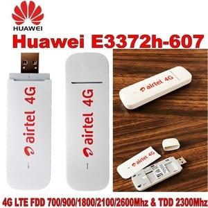 Image 4 - Huawei 4G USB Modem E3372 E3372h 607 4G LTE 150Mbps USB Dongle 4G USB Stick Datacard plus with 2pcs Antenna for huawei