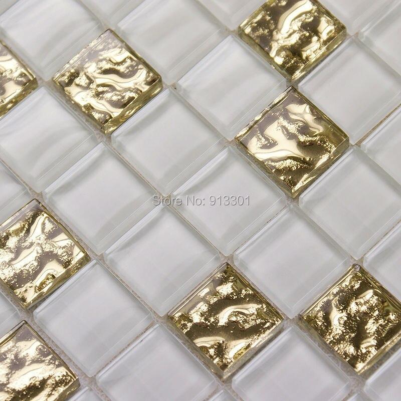 aliexpress.com : acquista mosaico di vetro piastrelle bianche ... - Piastrelle Cucina Mosaico