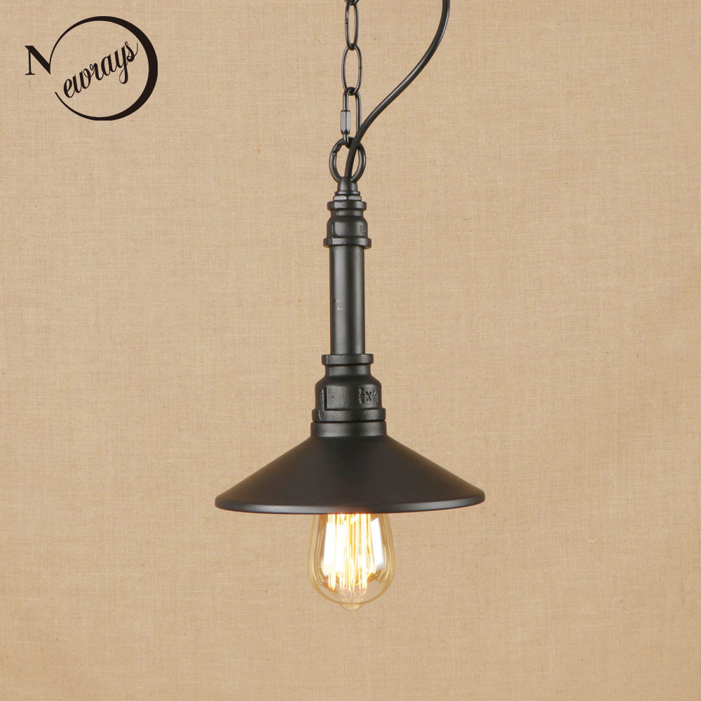 Vintage iron black hang lamp LED lamp Pendant Light Fixture E27 110V 220V For Kitchen Lights parlor study dining room bed room vintage iron painted brown hanging lamp led lamp pendant light fixture e27 220v for kitchen lights parlor dining room bed room