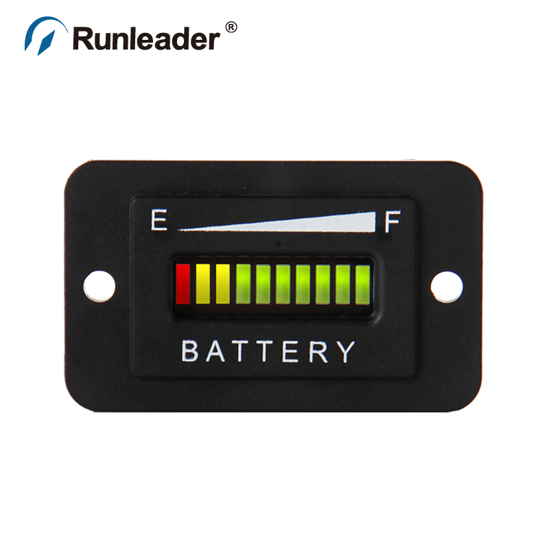 (10pcs/lot) Lead Acid Storage Battery Freeshipping RL BI003 10 Bar LED Battery Charge Indicator 48V for motorcycle golf cart AT-in Instruments from Automobiles & Motorcycles    2