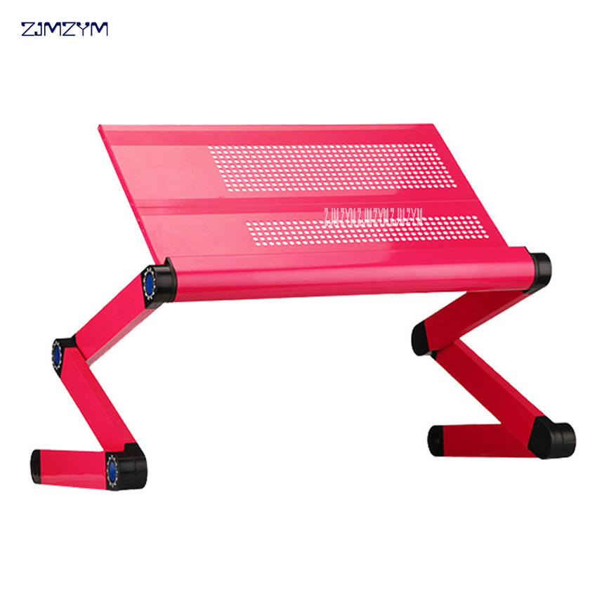Computer Desk Portable Laptop computer table bed Adjustable Intelligent folding computer table with Removable mouse pad