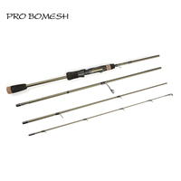 Pro Bomesh 2.1m 2.4m 4 Sections Spinning Travel Fishing Rod ML M 99% Carbon Fishing Rod With Microwave Guide