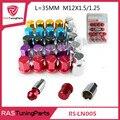 Liga de Alumínio Porcas de Fixação Da Roda RAIOS VOLK Racing Lug Nuts Comprimento 35 MM 12x1.5/1.25 RS-LN005