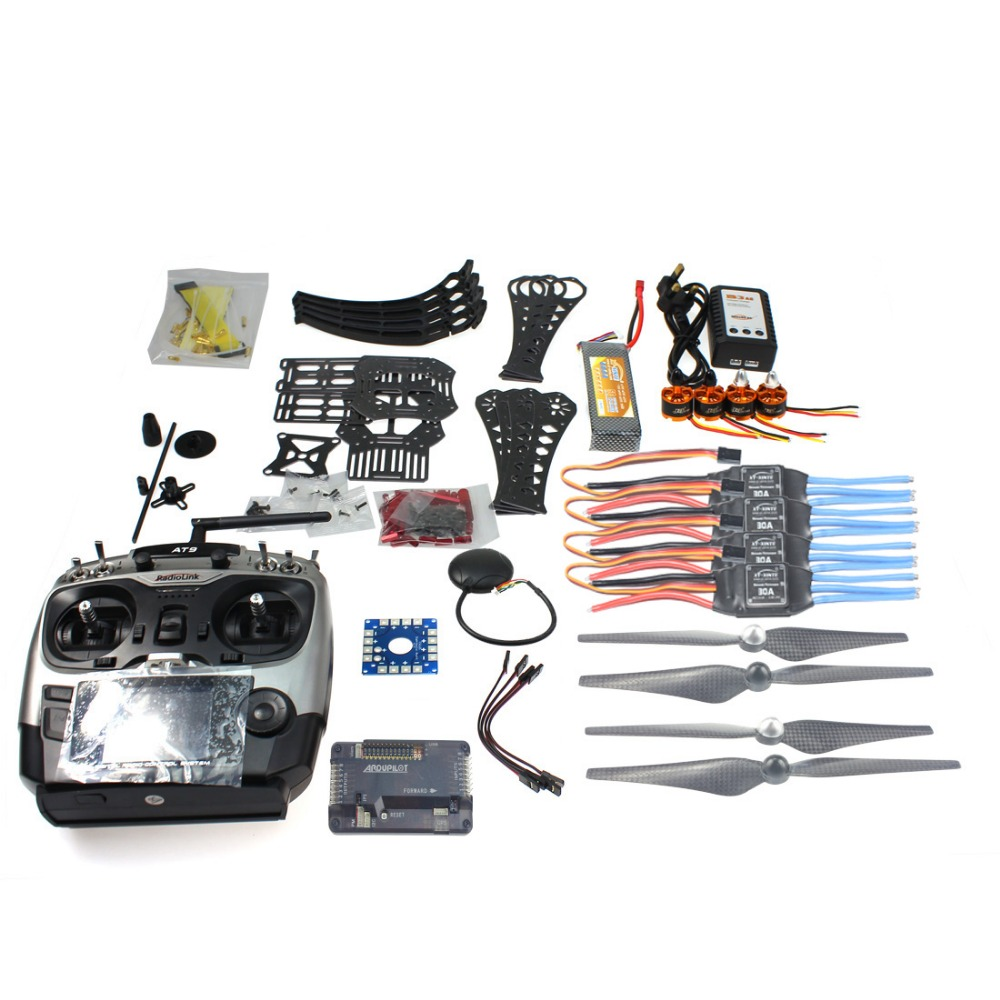 DIY RC Drone Quadrocopter X4M360L 360mm Frame Kit with GPS APM 2.8 Flight Controller AT9 Tramsmitter RX  Quadcopter F14892-C f04305 sim900 gprs gsm development board kit quad band module for diy rc quadcopter drone fpv