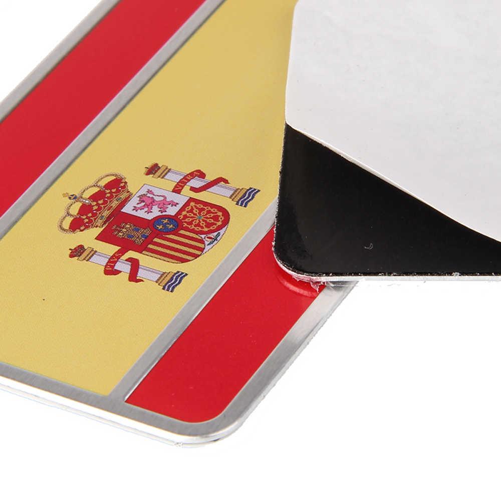 اسبانيا العلم المعادن شعار لصائق شارة سيارة التصميم ل ميتسوبيشي سوزوكي سوبارو دايهاتسو بيجو رينو سيتروين فولفو صعب
