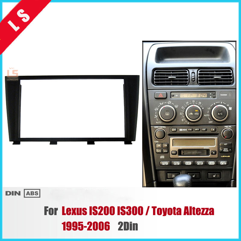 173*98MM 2 Din Car Radio Fascia for 1995-2006 <font><b>Lexus</b></font> IS200 <font><b>IS300</b></font> Toyota <font><b>Altezza</b></font> Dashboard Panel Auto Stereo Plate Frame 2DIN image