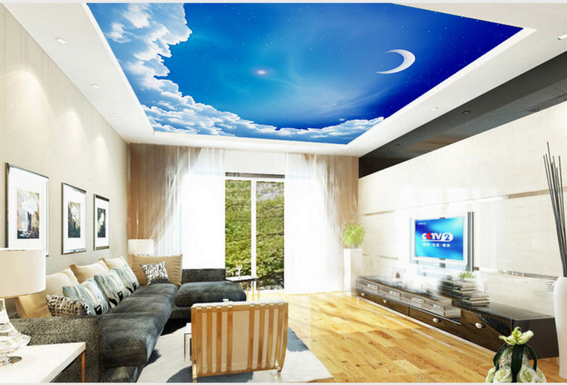 wallpaper for ceiling mural sky - photo #27