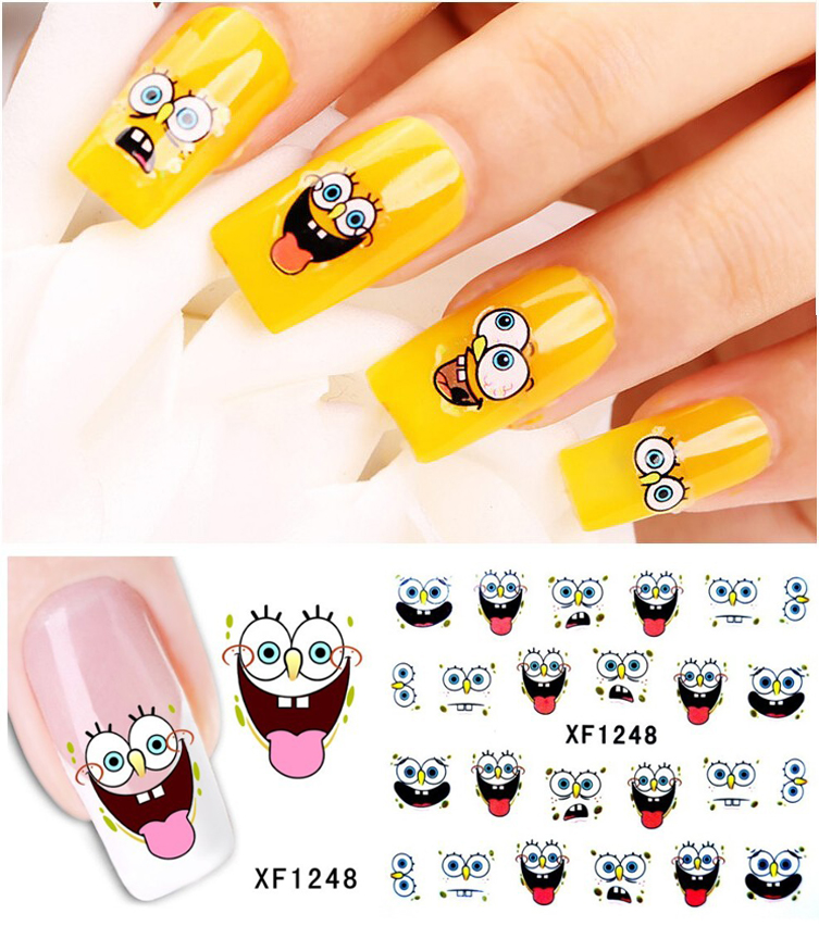 1sheet Nail Art Water Transfer Stciker Decals Sponge baby New Stickers Decorations Watermark Tools for Polish XF1248