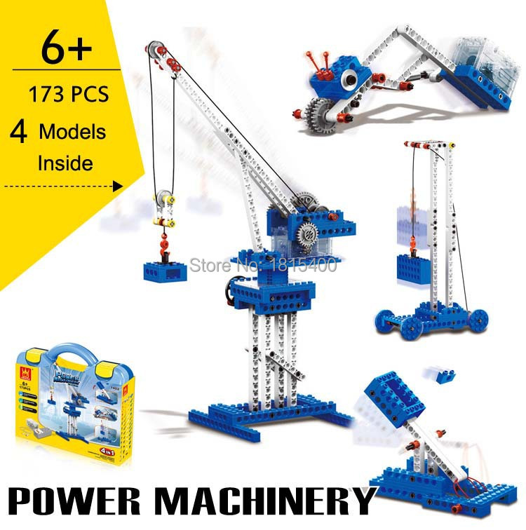 Creative Electric Toys Plastic Model Kits Building Blocks Bricks Set Educational Learning DIY Toys For Children 4 Modles In 1 2016 new sluban 0502 building blocks 415pcs diy creative bricks toys for children educational bricks brinquedos legeod