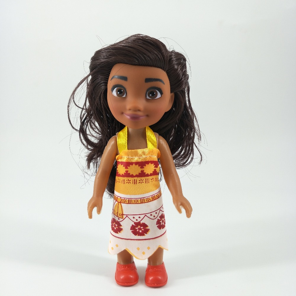 New Anime Movie Moana Princess Pvc Model Doll Hands And Feet Removable Vaiana Cosplay Action Characters Juguetes Children's Toys