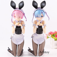 Re:life in a Different World from Zero Rem / Ram Bunny Ver. PVC Bunny Girl Doll Action Figure Collection Model Toys