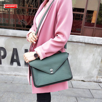 Fashion Women handbags large-capacity first layer cowhide briefcase female messenger shoulder bag slung portable crossbody bags