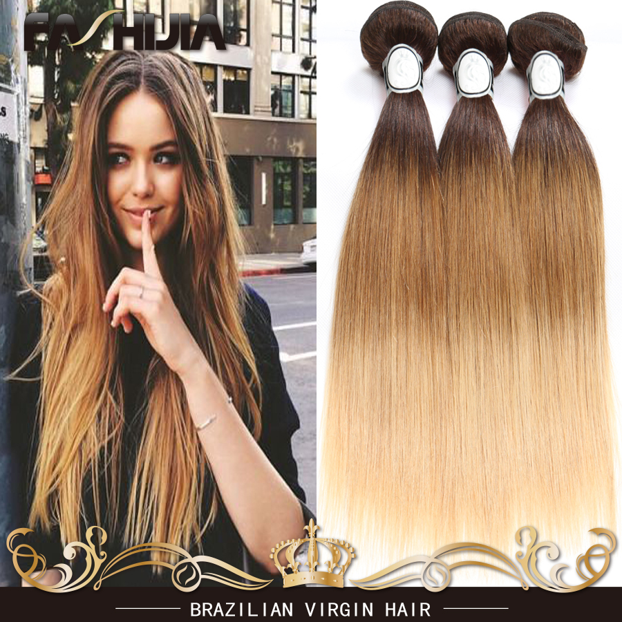 Straight hair perm products - Grade 8a Ombre Brazilian Virgin Hair Straight 4 Bundles Hair Products 1b 33