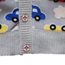 Autumn Baby Knitted Cardigan Cartoon Car Printed 2018 Boys Girls Sweaters Children Cotton Casual Clothing Outerwear