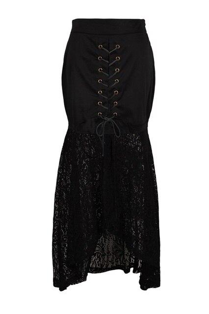 En gros vêtements femmes de noir sexy dentelle steampunk jupes royaume-uni  en ligne vintage f1c3da9ea82