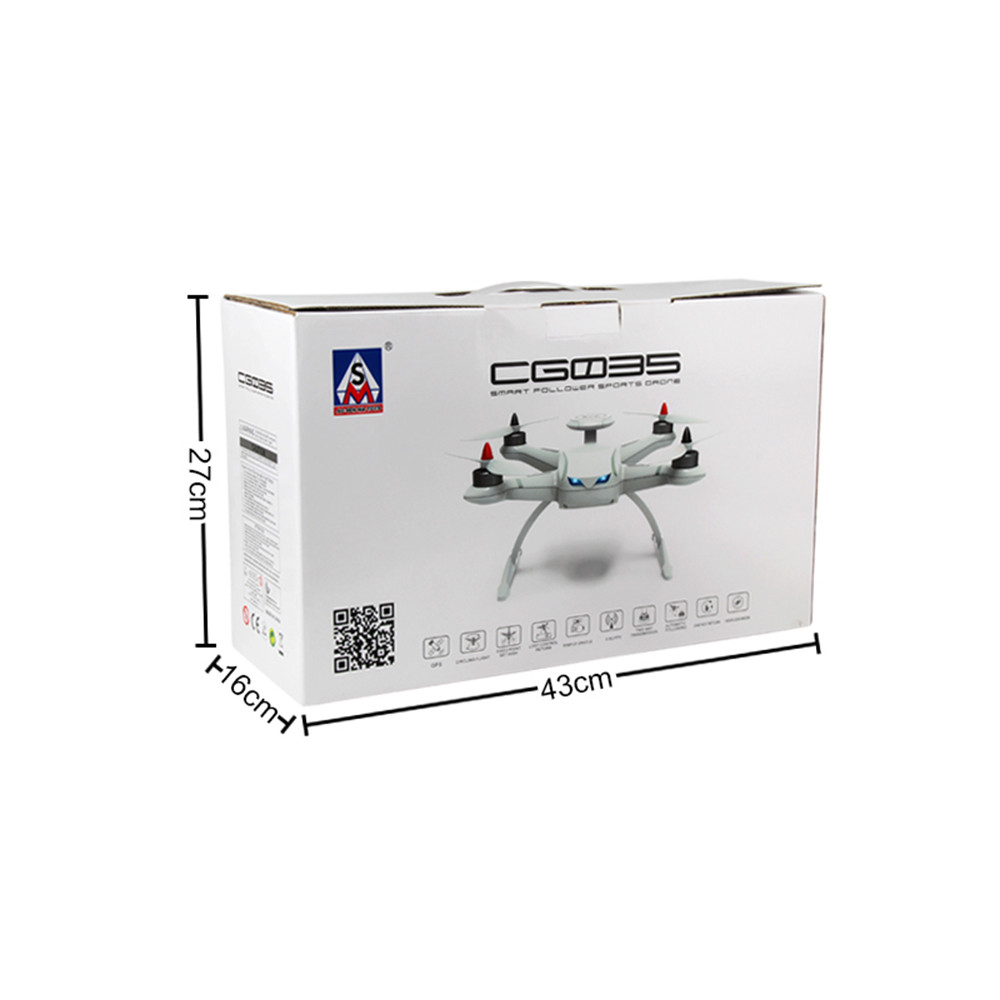2017 New AOSENMA CG035 Brushless Double GPS 5.8G FPV1080P Gimbal Camera Quadcopter Drone