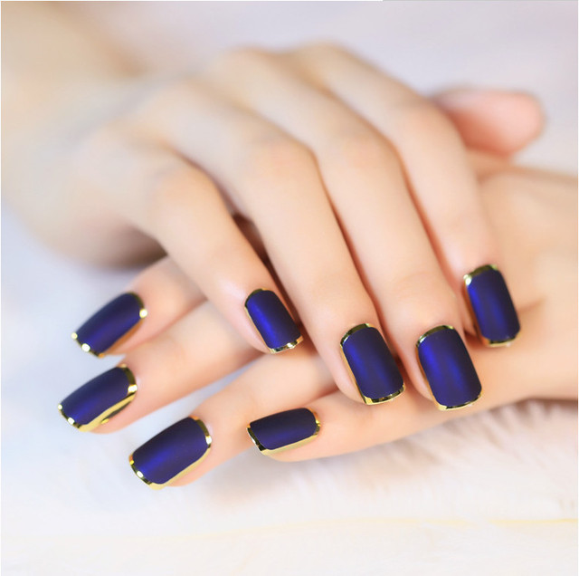 Noble Purple Acrylic Nails Candy Fashion False Nail Accessories DIY ...
