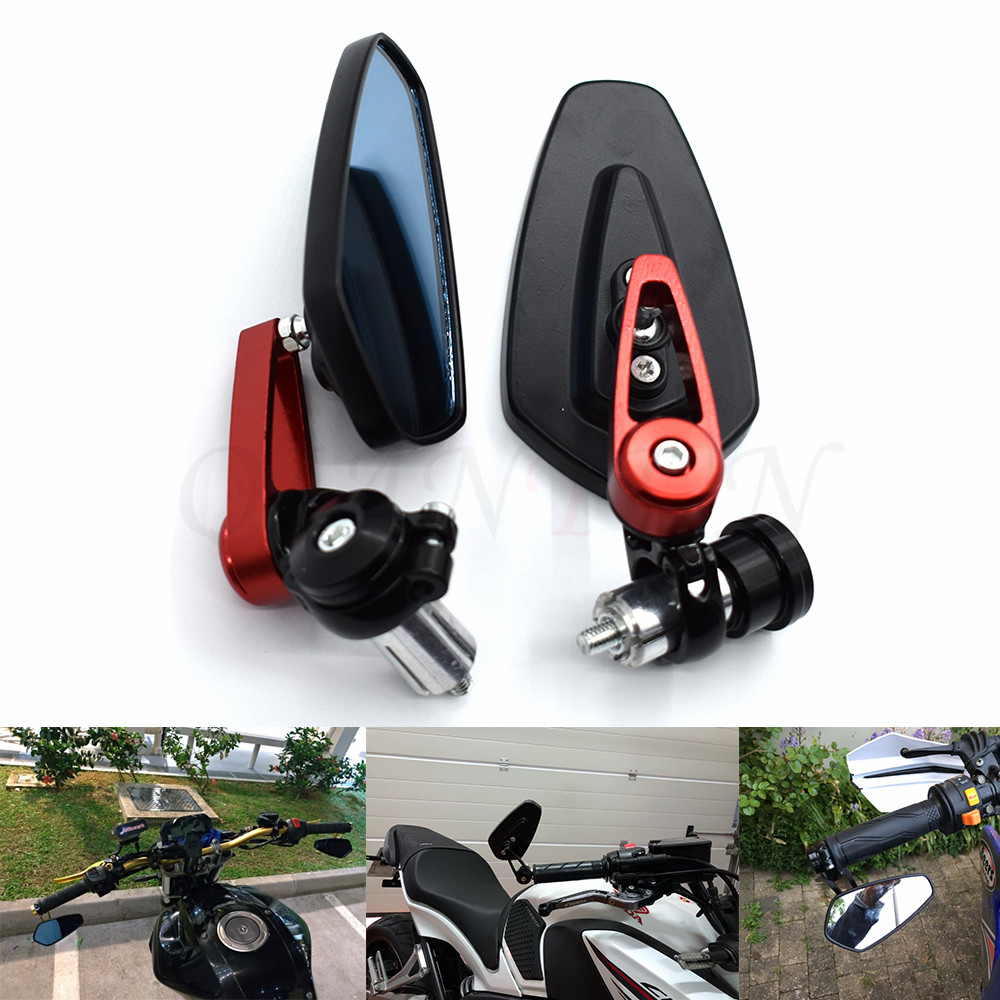 "Universal 7/8"""" 22mm Handle Bar Motorcycle Bar End Mirror Motorcycle Mirror For Ducati 796 696 400 620 695 MONSTER 620 MTS 796"