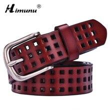 [HIMUNU] Мода коровья кожа пояса из натуральной кожи женские булавки для воротника винтажные Роскошные полые дизайнерские женские пояса высокого качества