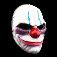 HOT 1 Pcs Pay Day Clown Party Halloween Dance Full Mask Of Vengeance Cosplay Resin Theme