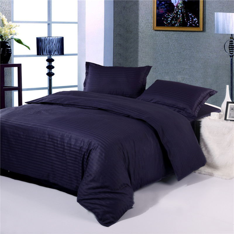 1pcs100% cotton high grade satin stripe with zipper quilt cover a variety of specifications can be customized Duvet Cover     - title=