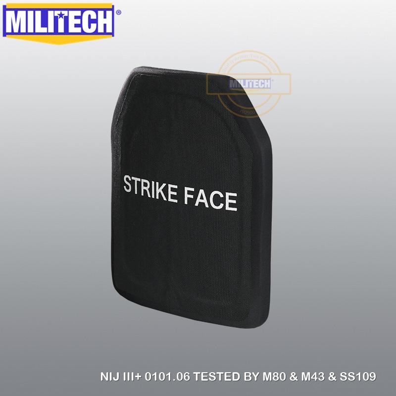 MILITECH 10X12 2 PC 알루미나 및 PE NIJ 0101.06 LEVEL III + - 보안 및 보호 - 사진 5