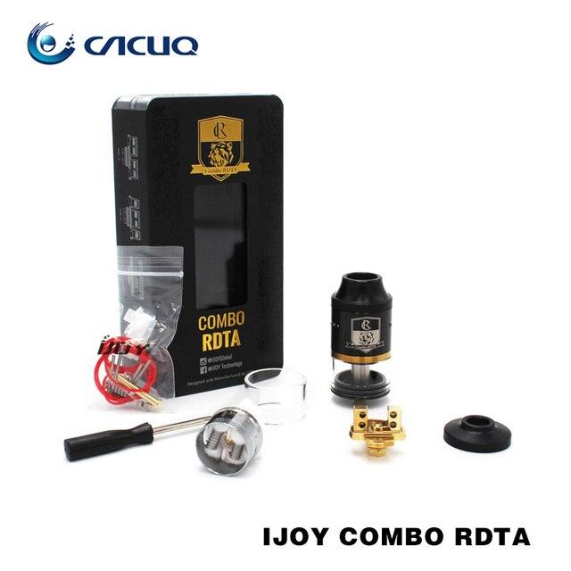100% Original Ijoy Combo RDTA Gotejamento Rebuildable Tanque Atomizador 6.5 ml Capacidade com 7 Pavimentos Opcionais RTA/RDA sub-ohm Tanque