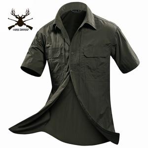 Image 3 - MEGE Summer Men Shirt Military Men Short Sleeve Shirt Casual Shirt Mens Brand Social Clothing Chemise Homme Camisa Masculina 2XL