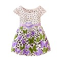 Meninas do bebê vestido de algodão dot flora imprimir 2016 novas roupas de bebê verão vestido de princesa