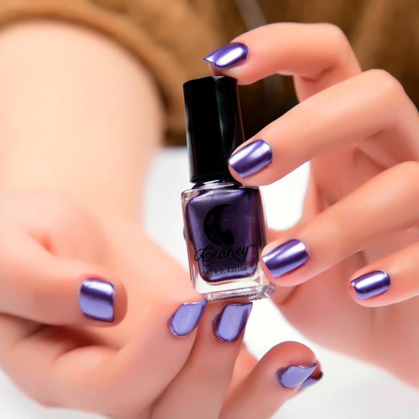 Feshion зеркало Лаки для ногтей Покрытие серебряной пасты металла Цвет Нержавеющаясталь серебро Лаки для ногтей для Дизайн ногтей Vernis а Ongle