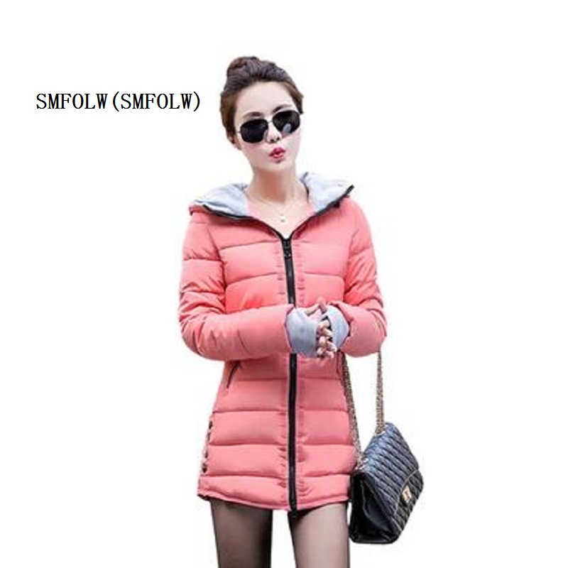 SMFOLW New Womens Celebrity Winter Coat Women Down Jacket Women Plus Size Hooded Parkas Coats Cotton Quilted Padded Slim Jackets alex evenings new purple plum sheer floral lace womens size 6 shrug jacket $90
