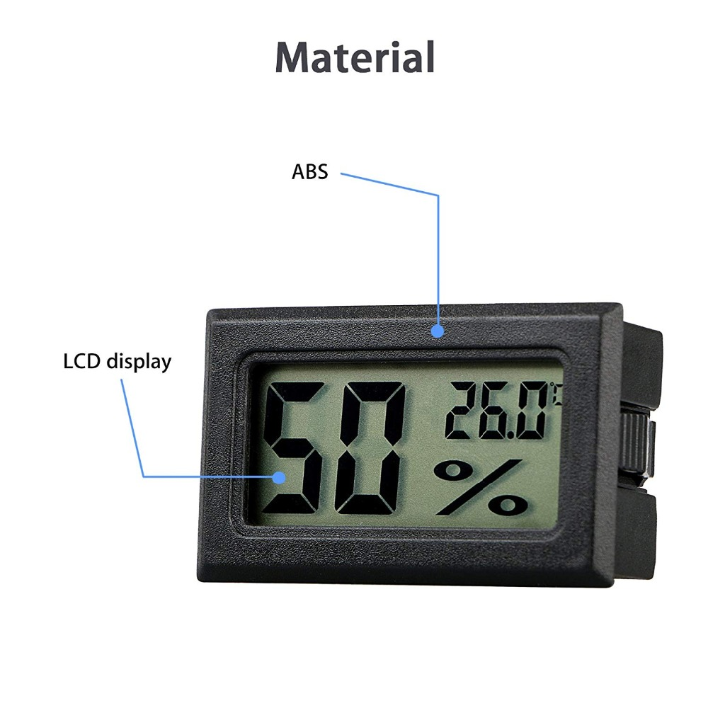 HTB1yUaqXIfrK1Rjy1Xdq6yemFXaS Mini Black Digital LCD Temperature Humidity Indoor Room Humidity Meter Thermometer Hygrometer Temperature Sensor Humidity