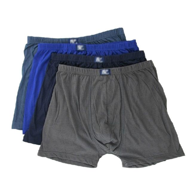 4 unids/lote Hot Sale Mens boxeadores de la ropa interior de algodón sueltos Cuecas Masculinas del boxeador Shorts calzoncillos One Size envío gratis