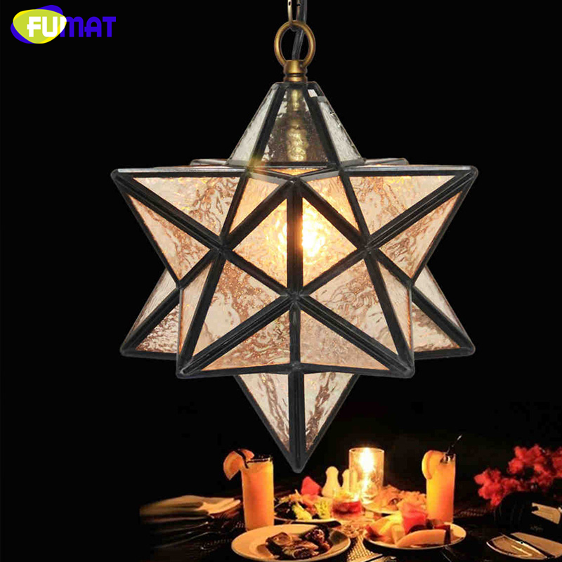 FUMAT Glass Art Decor Pendant Lamp Loft Light Polihedron Art Glass Star Light Corridor Kitchen Dinning