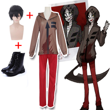 Anime Coshome Death Angel Zach Isaac Foster Cosplay Costume Shirt Pants Wig Halloween Party Masquerade Role Play