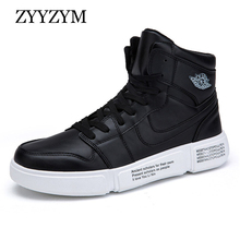ZYYZYM Men Sneakers Autumn High Style Leather Casual Shoes Comfortable Fashion Student 2018 New