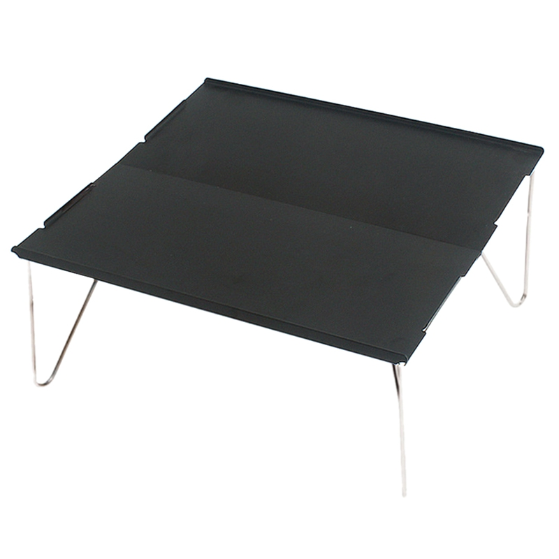 Outdoor Folding Table Durable Aluminum Plate Portable Table Lightweight Mini Furniture For Barbecue Camping Picnic Hiking