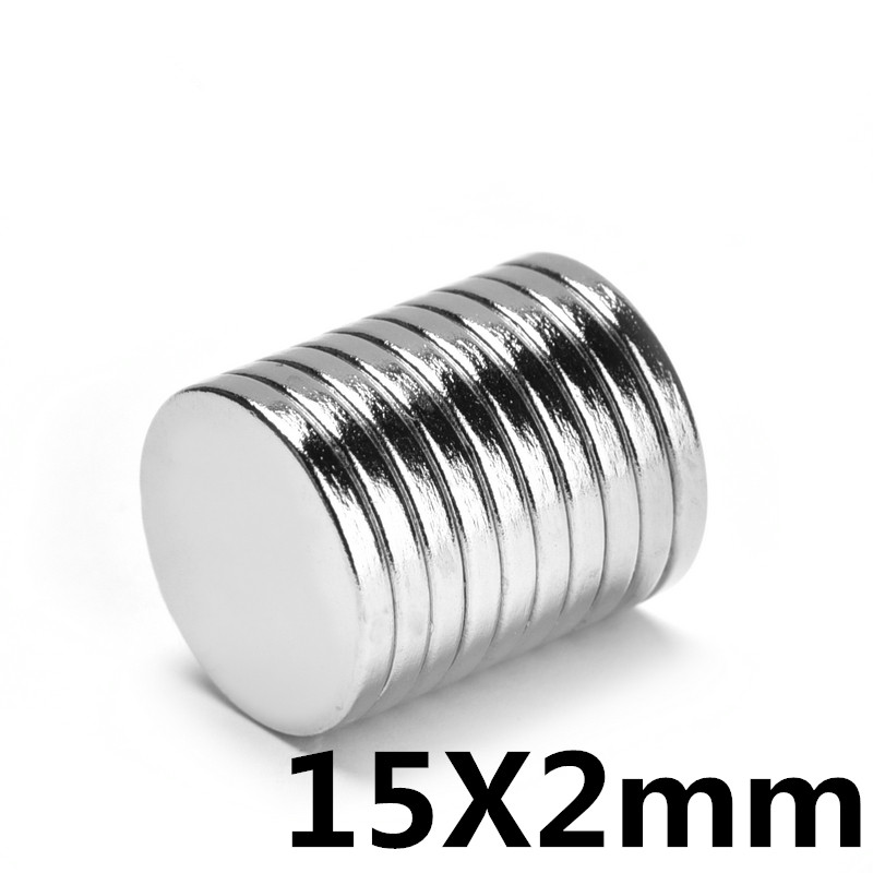 10pcs 15 * 2mm  Super Strong Neodymium Magnet N35 Disc Permanent Magnet Rare Earth Art Process Neodymium Iron Boron Magnet